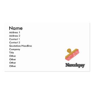 Carimbe para fora o Narcolepsy Cartão De Visita