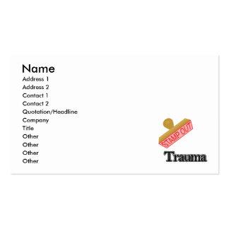 Carimbe para fora o traumatismo cartão de visita