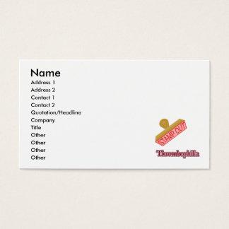 Carimbe para fora Thrombophilia Cartão De Visitas