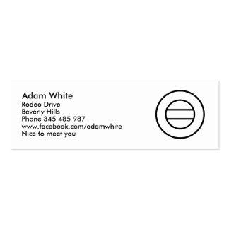Carimbe seu texto cartões de visitas