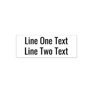 Carimbo Auto Entintado Adicione seu texto favorito - duas linhas pia