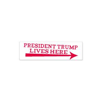 Carimbo Auto Entintado As vidas do presidente Donald Trump aqui pescam à