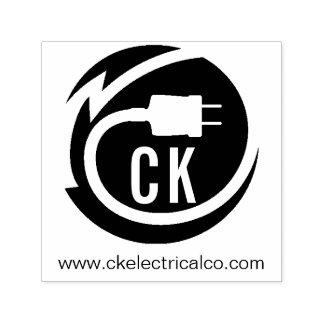 Carimbo Auto Entintado Design do logotipo do eletricista