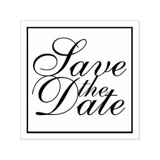 Carimbo Auto Entintado Economias elegantes do casamento a data