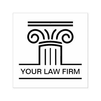 Carimbo Auto Entintado Emblema do logotipo de Advogado Empresa