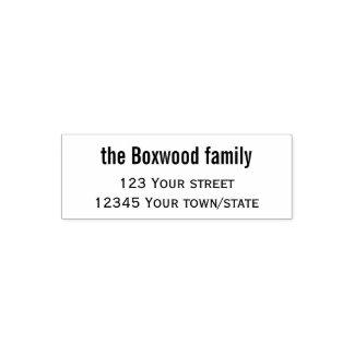 Carimbo Auto Entintado Família simples do endereço do remetente