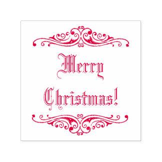 Carimbo Auto Entintado Feliz Natal vermelho dos cartões de natal do