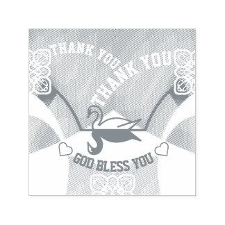 Carimbo Auto Entintado Obrigado espelhado da cisne você selo dos deus