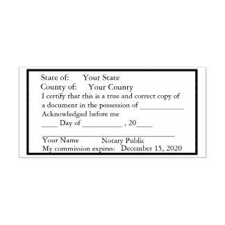 Carimbo Auto Entintado Selo padrão da cópia do notário