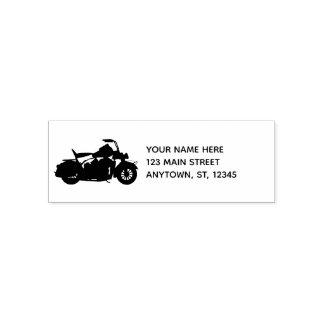 Carimbo Auto Entintado Silhueta da motocicleta para motociclistas