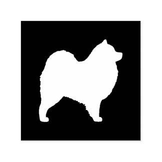 Carimbo Auto Entintado Silhueta do cão do Samoyed