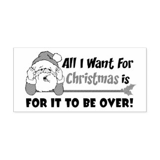 Carimbo Auto Entintado Tudo que eu quero para o design engraçado do Natal