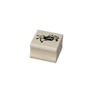 Carimbo De Borracha Aranha feliz bonito selo da tinta de 1 polegada