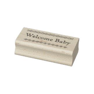 Carimbo de borracha bem-vindo do bebê