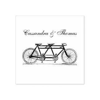 Carimbo De Borracha Bicicleta do vintage construída para