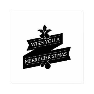 Carimbo De Borracha Branco e desejo vermelho você Feliz Natal