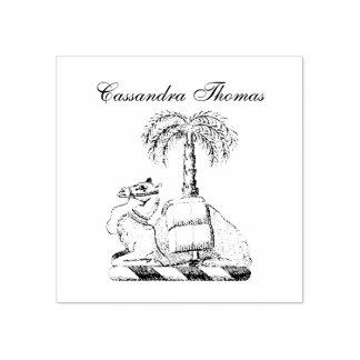 Carimbo De Borracha Brasão heráldica da cor da palmeira do camelo