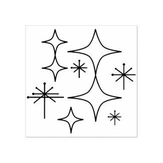 Carimbo De Borracha Desenho atômico moderno da ilustração do meio