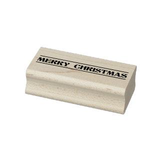 Carimbo de borracha do feriado do Feliz Natal
