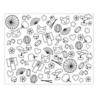 Carimbo De Borracha Doodles bonitos da página da coloração da cultura