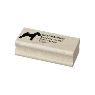 Carimbo De Borracha Endereço do remetente da silhueta de galês Terrier