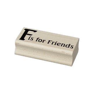 Carimbo De Borracha F para amigos