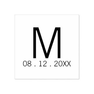 Carimbo De Borracha Favor moderno do casamento do monograma