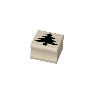 Carimbo De Borracha Forma do pinheiro do Natal