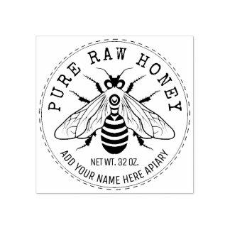 Carimbo De Borracha Frasco do mel que etiqueta o Apiary da abelha do