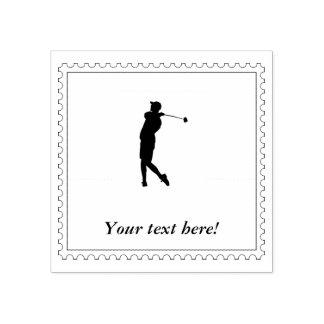 Carimbo De Borracha Jogador de golfe