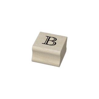 Carimbo De Borracha Letra clássica B do monograma selo de 1 polegada