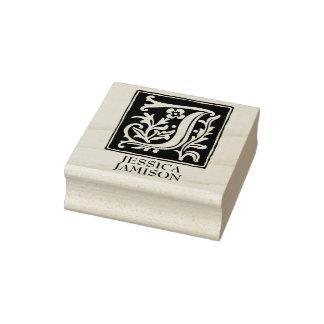 Carimbo De Borracha Letra decorativa J do alfabeto personalizada