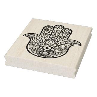 Carimbo De Borracha Mão inspirada de Hamsa