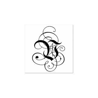 """Carimbo De Borracha Monograma da letra extravagante """"V"""""""