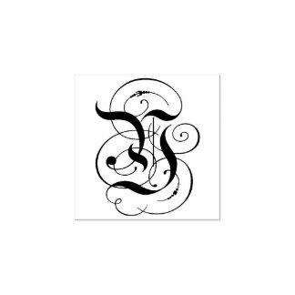 """Carimbo De Borracha Monograma da letra extravagante """"Y"""""""