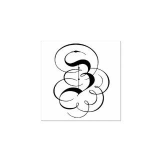 """Carimbo De Borracha Monograma da letra extravagante """"Z"""""""