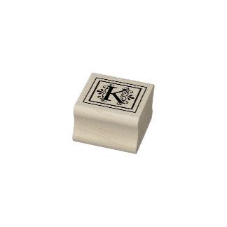Carimbo De Borracha Monograma da letra K