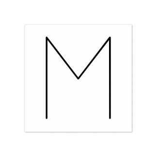 Carimbo De Borracha Monograma minimalista moderno à moda