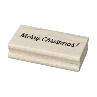 Carimbo de borracha montado do Feliz Natal bloco
