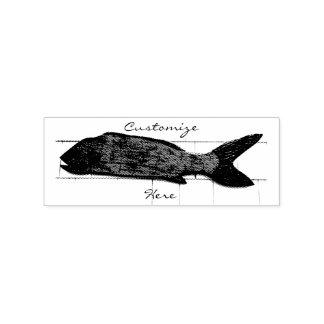 Carimbo De Borracha Natação da anchova