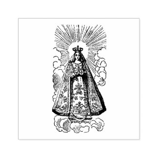 Carimbo De Borracha Natividade da Virgem Maria abençoada