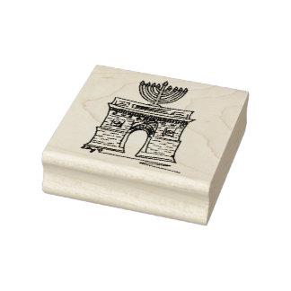 Carimbo De Borracha New York Hanukkah NYC Washington Menorah quadrado