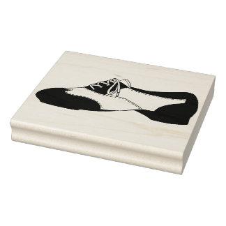 Carimbo De Borracha O preto Tapdance o professor dos calçados da dança