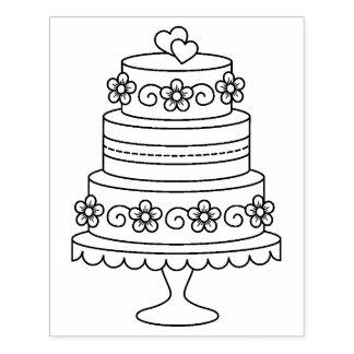 Carimbo De Borracha Página estratificado da coloração do bolo de