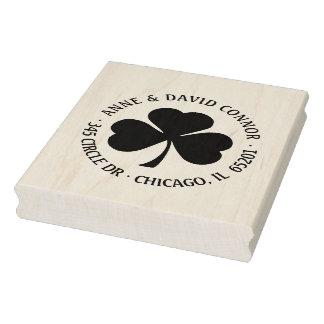 Carimbo De Borracha Personalizado em volta do selo do endereço do