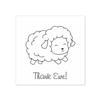 Carimbo De Borracha Poucos carneiros da ovelha do obrigado (você)