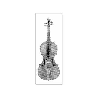 Carimbo De Borracha Reprodução gravada violino do olhar de
