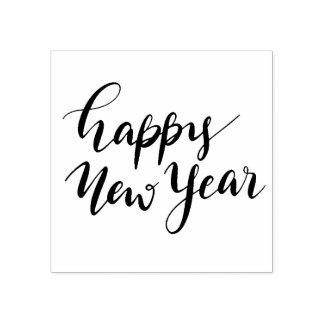 Carimbo De Borracha Roteiro ocasional do feliz ano novo moderno