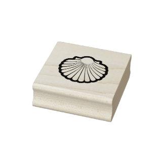 Carimbo De Borracha Scallop Shell
