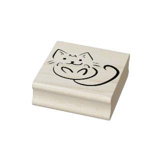 Carimbo De Borracha selo brincalhão da arte do gatinho